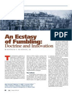 An Ecstasy of Fumbling Doctrine and Innovation