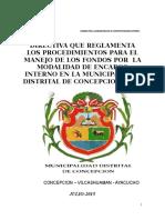Directiva Encargo Interno MD CONCEPCION 2015