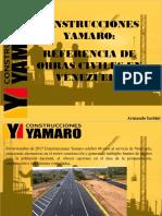 Armando Iachini - Construcciones Yamaro, Referencia de Obras Civiles en Venezuela