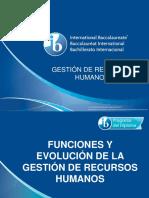 2 1 Funciones y Evolución de La Gestión de Recursos Humanos