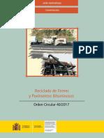 Reciclado de Firmes y Pavimentos Bituminosos. Orden Circular 40-2017.pdf