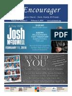 Encourager for February 4, 2018