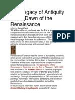 Antiquierty in Renaissance