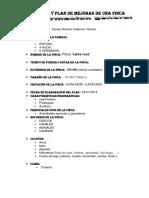 Diagnostico y Plan de Mejoras de Una Finca