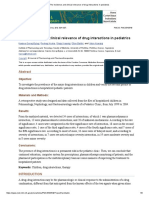 The Incidence and Clinical Relevance of Drug Interactions in Pediatrics
