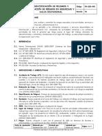 PR-SIG-002 Identificación de Peligros y Evaluación de Risgos V01