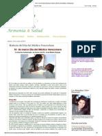 Vivir Con Armonía & Salud_ Historia Del Día Del Médico Venezolano