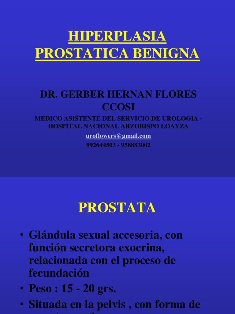 hiperplasia de próstata cie 10 en español