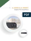 1231 a 2000d a 2000dt Series Digital Pa Amplifiers Brochure Brochure