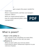 Topic 8 Org Power and Politics NEW