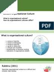 Topic 11 Organisational Culture