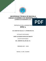 Portafolio  Ntics ingeniería civil.