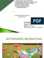 Presentación ACTIVIDAD Recreativa