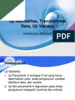 Uji Normalitas, Transformasi Data, Uji Varians