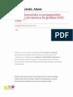 Wojna koreańska w propagandzie polskiej od czerwca do grudnia 1950 roku