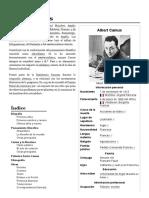 Albert Camus - Wikipedia, La Enciclopedia Libre