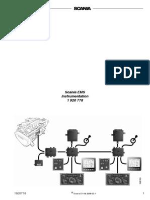 SCANIA EMS pdf | Throttle | Switch