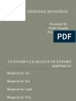 Im-custom Clearance Procedure
