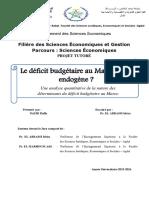 Le Déficit Budgétaire Au Maroc Est-il Endogène ?