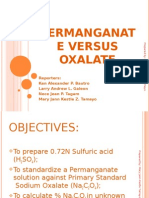 Permanganate Versus Oxalate Presentation