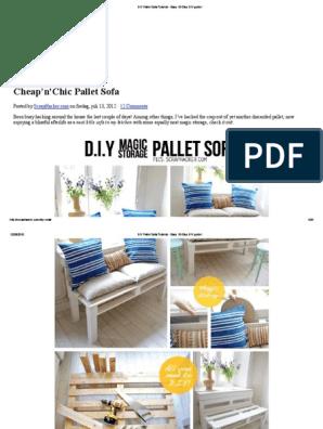 Peachy Diy Pallet Sofa Tutorial Easy 10 Step Diy Guide Pdf Do Lamtechconsult Wood Chair Design Ideas Lamtechconsultcom