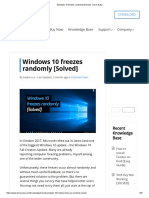 Windows 10 Freezes Randomly [Solved] - Driver Easy