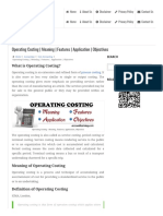 Operating Costi