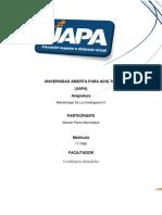 Metodología de La Investigación II Actividades Unidades VII y VIII