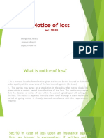 Notice of Loss