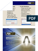 ANSYS V11 Rotor Dynamics Web Seminar