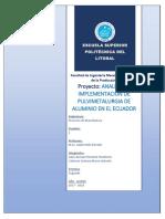 Pulvimetalurgía en Ecuador