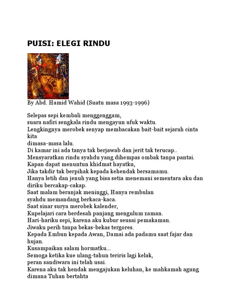 Puisi Elegi Pagi