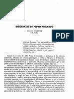 Disidencias De Pedro Abelardo