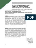 Hubungan Self-care Dengan Kualitas Hidup Pasien Diabetes Mellitus (Dm) Di Persatuan Diabetes Indonesia (Persadia) Cabang Cimahi