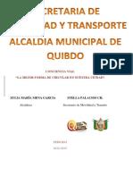 Empalme Movilidad 2012-2105 Quibdo