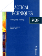 Practical Techniques for Language Teaching - Michael Lewis & Jimmie Hill