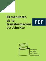 MANIFESTO Transformación por John Kao