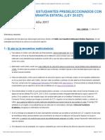 INSTRUCTIVO PARA ALUMNOS PRESELECCIONADOS CON EL CRÉDITO CON GARANTÍA ESTATAL (LEY 20.027)