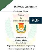 Diploma in EE Syllabus III-VI Sem