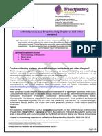 Antihistamines (Hayfever) and Breastfeeding