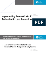 5. Implementing Access Control, Authentication, And Account Management (31)