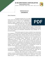 Proyecto de Ley de Alejandra Cejas
