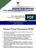 Kerangka Pengeluaran Jangka Menengah Mtef Medium Term Expenditure Framework