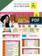BSNL GSM Prepaid Tariff - Kerala 18-01-2018