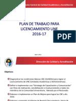 Plan de Licenciamiento UNE 2016 V3