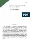 Status Epistemológico de La Ciencia y La Ética
