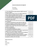 Cuestionario de Alteración de La Deglución (SDQ)