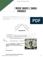 Carnatic Music Basics _ Sarali Swaralu - Gruhinii