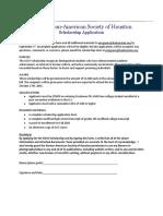 KASH Scholarship Application.doc