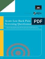 Acute LBP Questionnaire